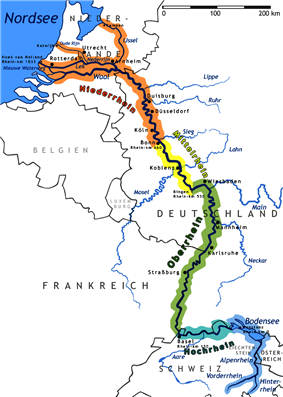 Map of the Rhine