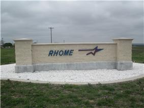 Rhome sign off U.S. Route 287