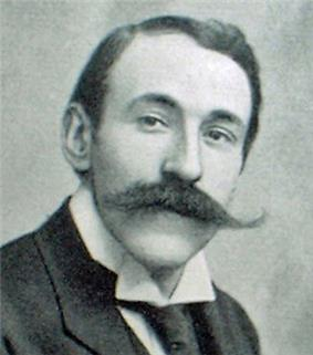 middle aged man with huge moustache