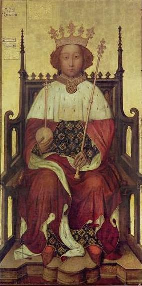 Oil-on-panel portrait of Richard II of England, mid-1390s