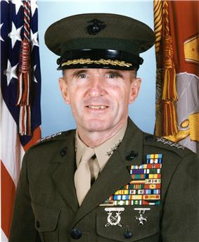 A color image of Richard Neal, a white male in his Marine Corps dress uniform