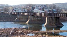 Ridgeley and the North Branch of the Potomac River, as viewed from Cumberland, Maryland, in 2007