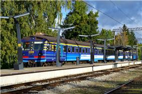 A train in Riisipere railway station