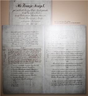 Manuscript of Croatian-Hungarian Settlement of 1868
