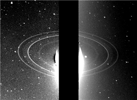 Rings of Neptune taken in occulation from 280,000km