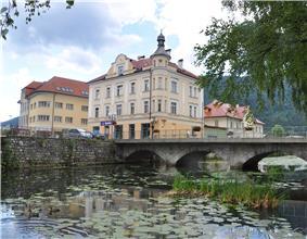 The Rinža River in Kočevje