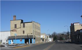Looking north in downtown Ripon