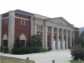 The front exterior of Ritchie Coliseum.
