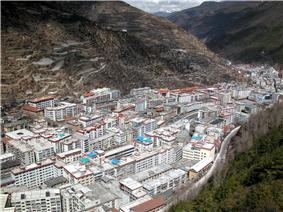 View of Kangding