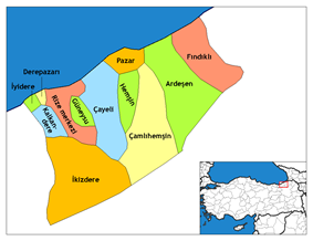 Districts of Rize