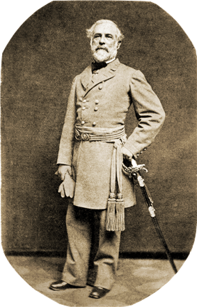 General Robert E. Lee poses in an 1863 portrait