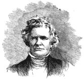 Back and white drawing of a white man wearing a high collared blouse and dark jacket