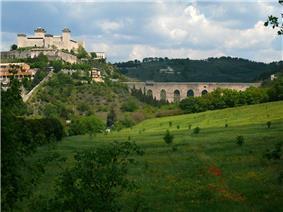 The Rocca Albornoziana fortress.