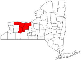 Map of Rochester metropolitan area