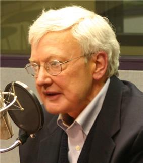 Roger Ebert, one of the film's positive reviewers and commentators, in 2006.