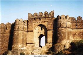 Ruins of the gate to a fortress.