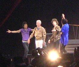 The Rolling Stones in 2006. Left to right: Ronnie Wood, Charlie Watts, Mick Jagger and Keith Richards
