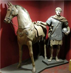 Reconstruction of Roman cavalryman at Roman Museum