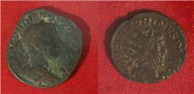 Roman coins excavated in Essaouira 3rd century and late Roman Empire.jpg