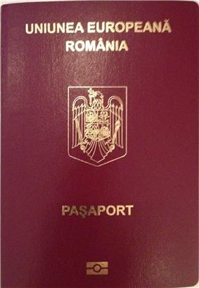 Romanian passport