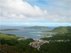 Romblon Bay, with the capital town of Romblon in the foreground