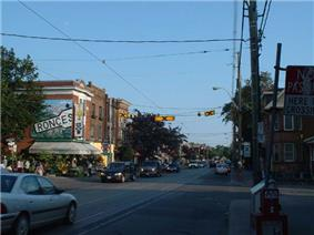 Roncesvalles Avenue, looking south from Marmaduke Avenue