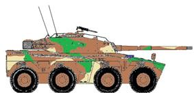 Rooikat Armoured Car 105mm