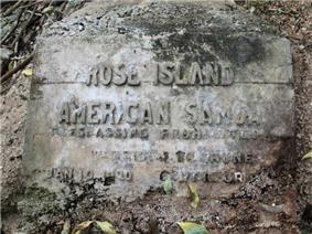 Rose Island Concrete Monument