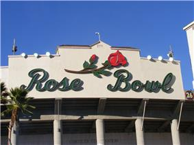 Rose Bowl Stadium in Pasadena, California