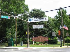 Roselle Park Welcome Sign