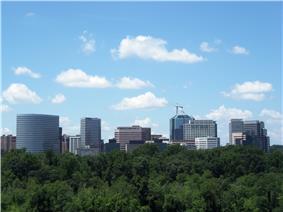 Rosslyn, Virginia, as seen from Kennedy Center in Washington, D.C.
