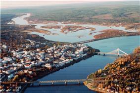 Rovaniemi from air, October 1999