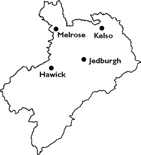Burghs in Roxburghshire, 1975