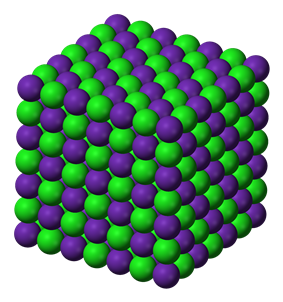 Rubidium chloride's NaCl structure