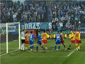 Jagiellonia Białystok soccer match
