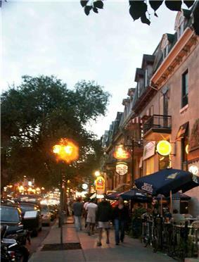 Terasses on Saint Denis Street.