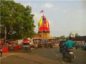 festival cart of the temple with image of the festival deity