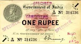 Newer one-rupee note