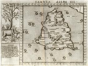 1562 Ruscelli map after Ptolemy