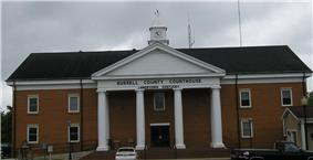 Russell County courthouse in Jamestown