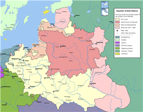 Map of the Polish-Lithuanian Commonwealth
