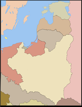 Parośla I massacre is located in Poland
