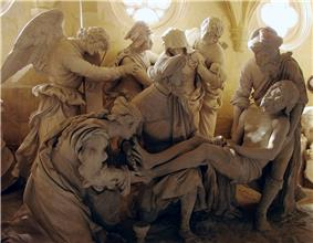Entombment of Christ, sculpture by Ligier Richier, in the Church of St. Étienne, in Saint-Mihiel