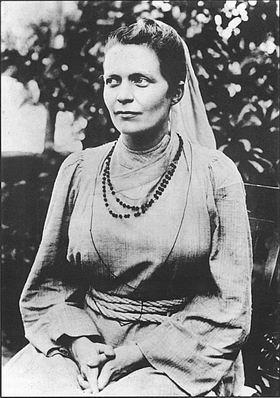 Image of Sister Nivedita, sitting!