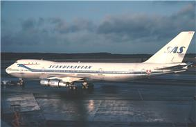 Large four-engine jetliner