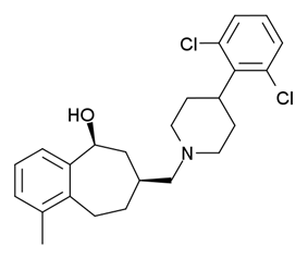 Chemical structure of SB-612111.