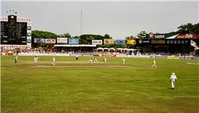 Sinhalese Sports Club Ground hosting a Test match in 2001