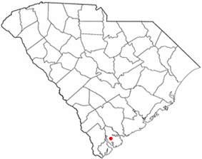 Location of Beaufort, South Carolina