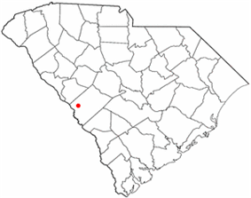 Location of Burnettown, South Carolina
