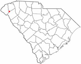 Location of Clemson, South Carolina